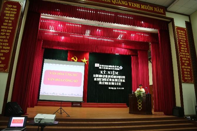 Công ty tổ chức kỷ niệm 88 năm ngày thành lập Hội LHPN Việt Nam 20/10 (1930- 2018)