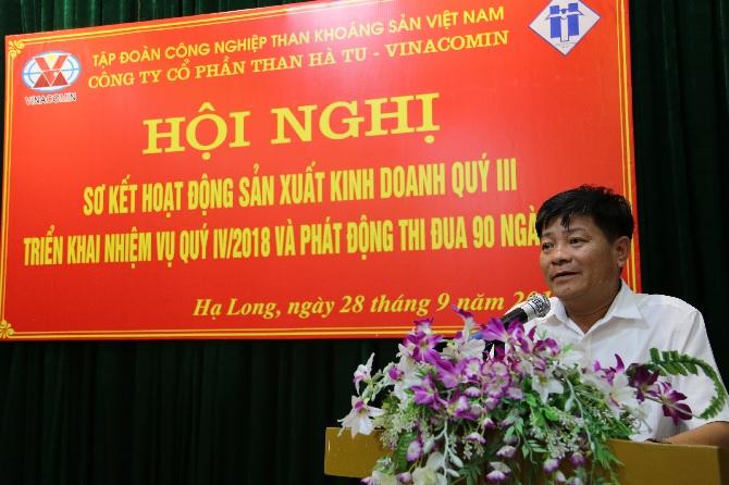 Đ/c Vũ Hồng Cẩm- Giám đốc Công ty phát biểu chỉ đạo Hội nghị
