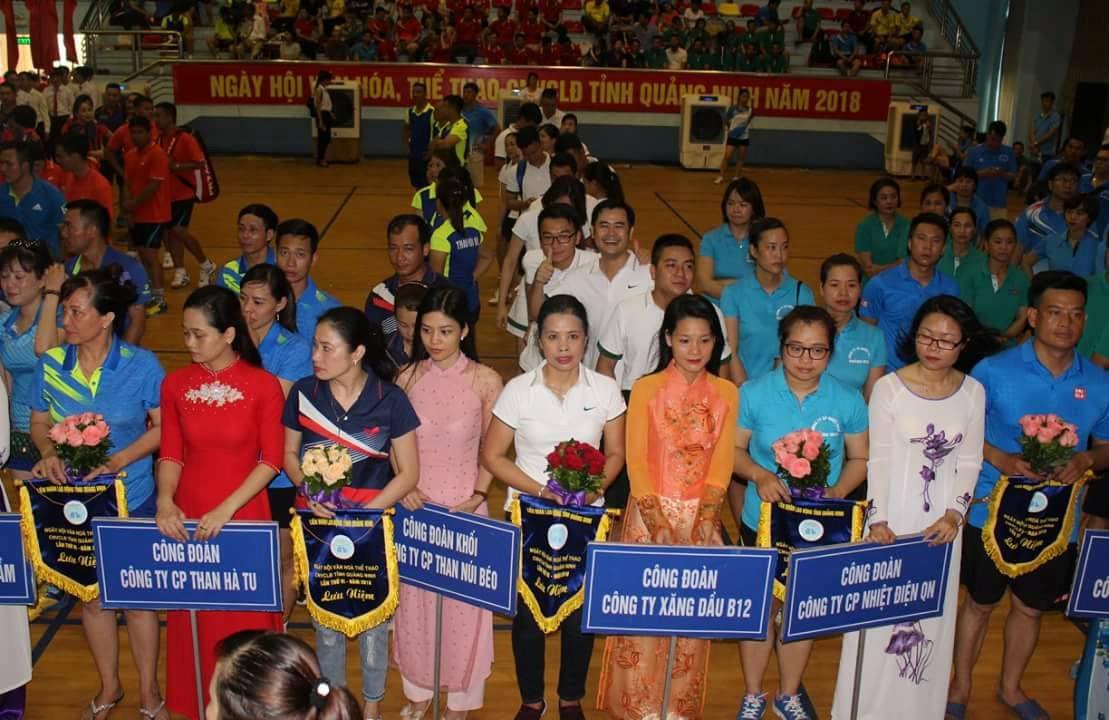 Đoàn VĐV Công ty tham gia Ngày hội VHTT CNVC-LĐ tỉnh Quảng Ninh lần thứ VI năm 2018